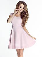 Летнее молодежное платье розового цвета с коротким рукавом. Модель 6053, коллекция весна-лето 2016.