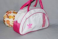 Спортивная сумка Adidas модель MB. (белый+розовый). Лучшие цены!!!, фото 1