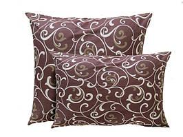 Подушка с шариковым силиконом, бязь, Шоколадный орнамент (50х70 см.)