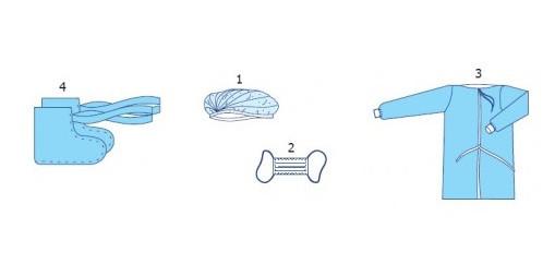 Комплект для партнерських пологів №1 (розмір 50-52) стерильний