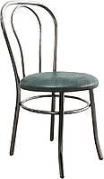 [ Стул Tulpan chrome S-96 + Подарок ] Мягкий хромированный стул искусственная кожа серый
