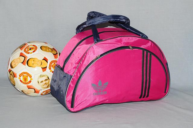 8fbf9bfcd2d4 Спортивная сумка Adidas модель MB. (розовый+серый). Лучшие цены ...