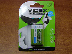 Батарейка щелочная Videx 6LR61/9V (Крона) блистер 1 шт.