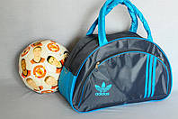 Спортивная сумка Adidas модель MB. (серый+голубой). Лучшие цены!!! Распродажа, фото 1