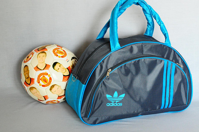 ec93bb0e48e4 Спортивная сумка Adidas модель MB. (серый+голубой). Лучшие цены ...