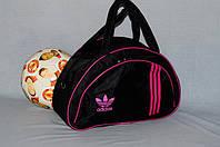 Спортивная сумка Adidas модель MB. (черный+розовый). Лучшие цены!!!, фото 1