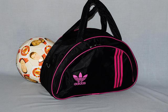 10f59c65bdc8 Спортивная сумка Adidas модель MB. (черный+розовый). Лучшие цены ...