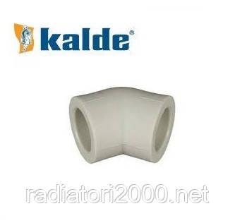 Угол (колено) Kalde 90х45° полипропилен