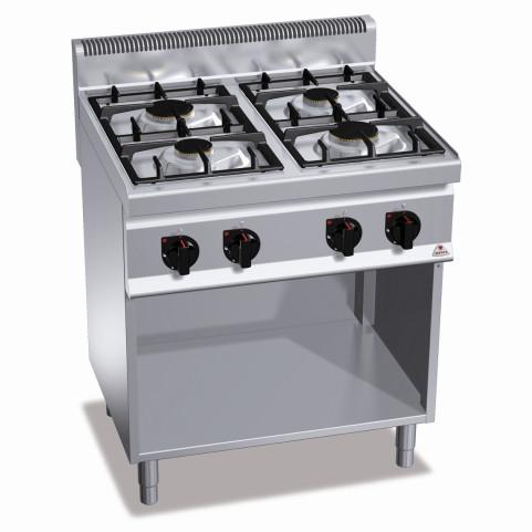 Профессиональная газовая плита Bertos G7F4ME