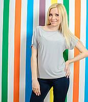 Женская летняя футболка серая, фото 1