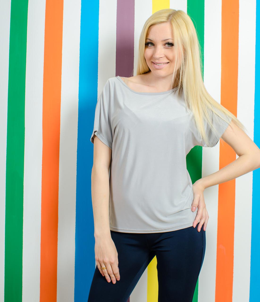 Женская летняя футболка серая