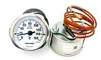 Pak 60/160/2m  — Термометр капиллярный для сауны (бани), d=60мм, 160˚С, длина трубки 2000мм, Турция