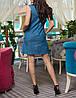 """Платье из джинса """"Фристайл кэт"""" с принтом, фото 2"""