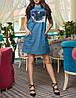 """Платье из джинса """"Фристайл кэт"""" с принтом, фото 3"""