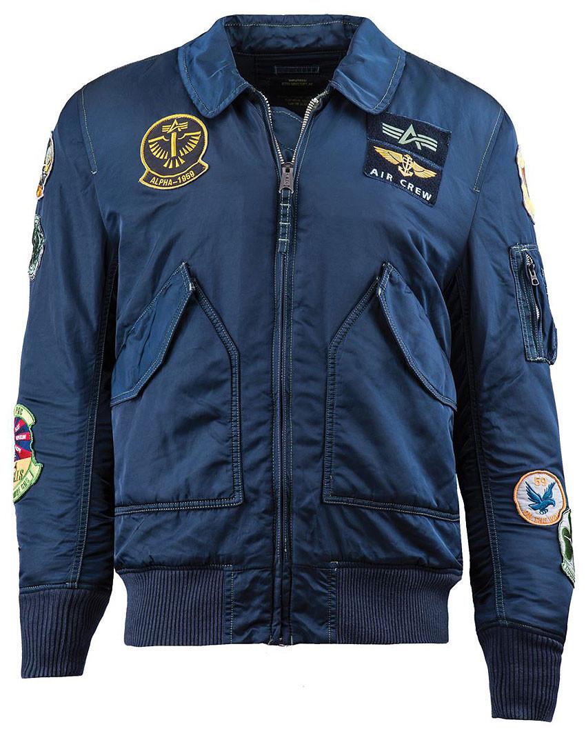 27700dcb Летная куртка CWU Pilot X Alpha Industries (синяя) - Магазин Alpha  Industries - официальный