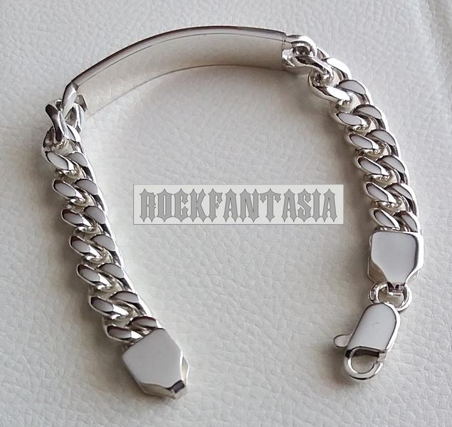серебряный мужской браслет для гравировки срібний браслет під
