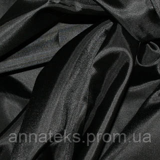 Ткань подкладочная  (нов) арт.2025 (ТКК) 190Т №1 черный 150см