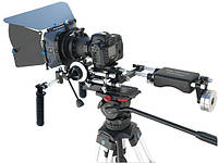Комплект обвеса ProAIM RIG kit 1: Rig 120, MB-600, Follow focus V1, Pro ZOOM, Бат. платформа Sony V, фото 1