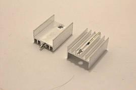 Радиатор алюминиевый для TO-220 (20x14x9mm) серебристый