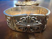 Мужской серебряный браслет Кельтский крест Chrome Hearts 103,18 гр, 22 см