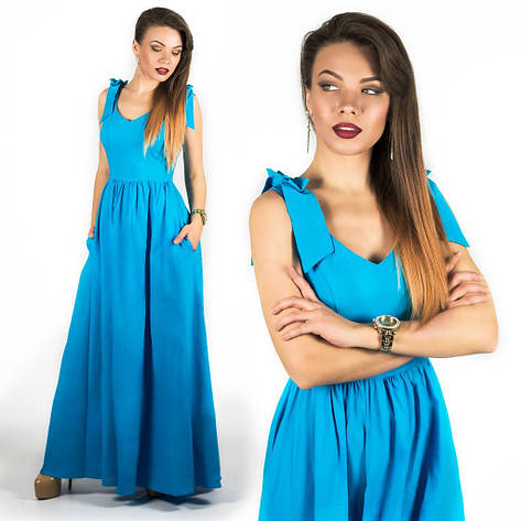 Голубое платье 15890 , фото 2
