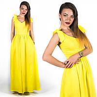 Желтое платье 15890