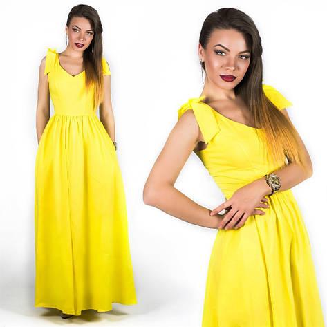 Желтое платье 15890, фото 2