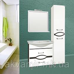 Комплект мебели для ванной комнаты ЭЛЕГАНТ НИКОЛЬ 125 см