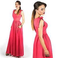 Коралловое платье 15890