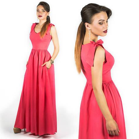 Коралловое платье 15890, фото 2