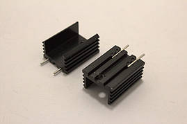 Радиатор алюминиевый для TO-220 (20x15x10mm) черный