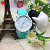 Стильные наручные женские часы Geneva 5 Цветов