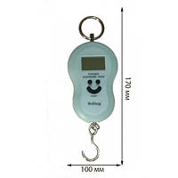 Кантер электронный WeiHeng с подсветкой и термометром (до 40 кг)