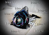 Обруч для волос ручной работы с цветком