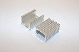 Радиатор алюминиевый для TO-220 (20x15x10mm) серебристый (без ножки)