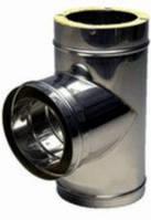 Тройник из нержавеющей стали  с термоизоляцией нерж/нерж (87°) d 110/180