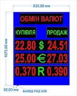 """Электронное светодиодное табло """"Обмен валют"""""""