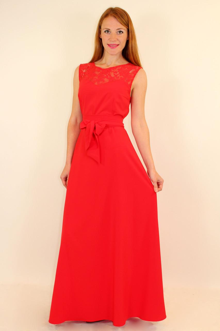 Красное вечернее платье в пол 44 р