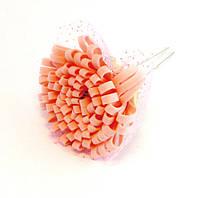Шпилька для волос металл Цветок силикон-10 шт.- 6,5 см., фото 1