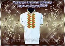 Мужская пошитая рубашка короткий рукав «Традиция» № 30