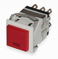 Кнопочный переключатель без фиксации с лампой 8 контакт. KD2-22 17.2 * 17.2 мм 3A/250 В