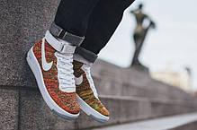 Мужские кроссовки Nike Air Force 1 Ultra Flyknit Mid Multicolor 817420-700, Найк Аир Форс, фото 2