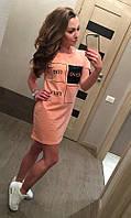 Летнее платье туника квадрат норма