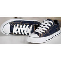 "Кеды Converse Chuck Taylor Retro Classic Denim Lo Sneakers ""Navy Blue"""
