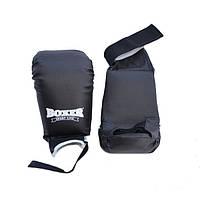 Накладки каратэ Boxer кожа (черный)