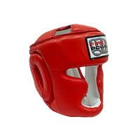 Шлем боксерский FirePower Red Leather FPHG3. Размер М