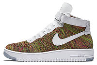 Мужские кроссовки Nike Air Force 1 Ultra Flyknit Mid Multicolor 817420-700, Найк Аир Форс