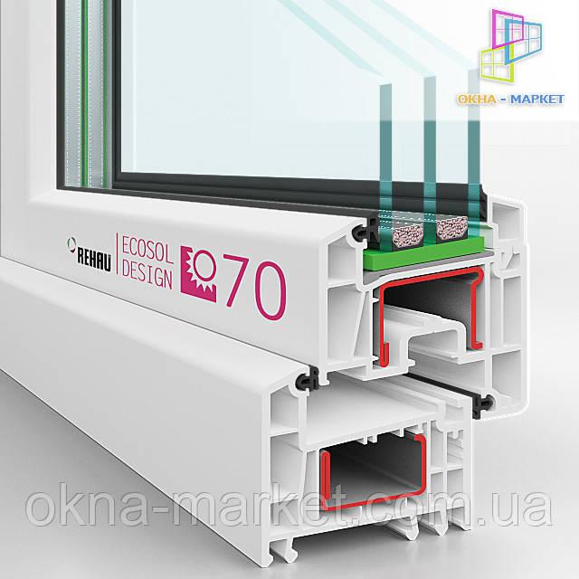 Застеклить лоджию в профиле Rehau Ecosol 70 - фирма Окна Маркет