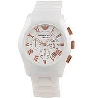 Женские кварцевые часы Armani White Ceramic Ar1416