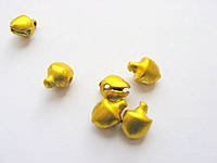 Бубенчик металлический, желтый, 6 мм